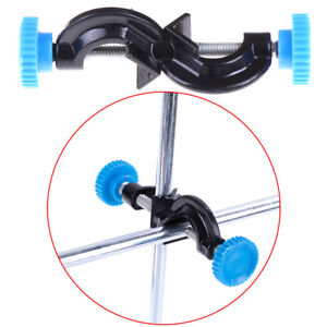 Lab Stands Double Top Wire Clamps Holder Metal Grip Supports Right Angle Clip Fs
