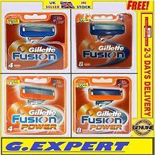 GILLETTE FUSION / FUSION POWER RAZOR BLADES            - 4 / 8 / 10 - UK STOCK