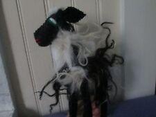 hairy sheep stuffed mexico folk art mexico animal FELTED WOOL figure statue doll