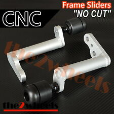 CNC Frame Sliders (No Fairing Cut) for Kawasaki Ninja 300 / 250 2013+