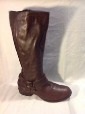 Red Tape Brown Knee High Leather Boots Size 5