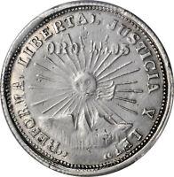 1914 Mexico Guerrero Two Pesos Revolutionary Gold / Silver Coin PCGS DETAILS