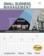 Small Business Management 14e Longenecker Moore 2008 Hardcover - Free Shipping!