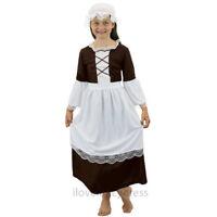 GIRLS TUDOR MAID COSTUME POOR HISTORIC GIRL CHILDS SCHOOL CURRICULUM FANCY DRESS