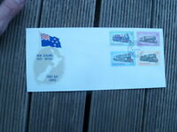 1973 NEW ZEALAND TRAINS SET OF 4 OFFICIAL FIRST DAY COVER