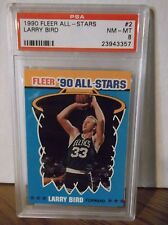 1990 Fleer All - Stars #2 - LARRY BIRD - PSA 8 NM - MT - Celtics