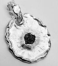 +292 Anhänger 925er Silber rhod. strukturiert Diamant schwarz ca.1ct