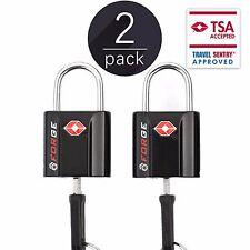 TSA Approved Luggage Locks, Ultra-Secure Dimple Key Travel Locks 2 Pack