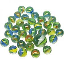Murmeln aus Glas - Perlmutoptik - 50+1 im Netz - Glasperlen im Beutel