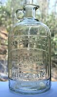 Antique White House Vinegar Half Gallon Spout Finger Hold Jug By Owens Glass Co.
