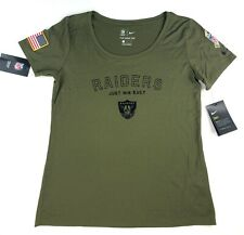 Nike Womens Oakland Raiders Salute to Service T-shirt Size Med 938812-395