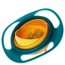 NON SPILL FEEDING TODDLER GYRO BOWL 360 ROTATING BABY KIDS AVOID FOOD SPILLING G