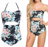 Women One-piece Swimsuit Cut Out Bathing Suit Ladies Sexy Swimwear Size S-XXL