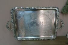 Beautiful Antique Large Polish NORBLIN WARSZAWIE Serving Tray Poland / Russian