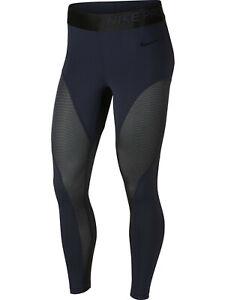 NIKE Women's Pro Warm 7/8 Training Leggings sz S Small Obsidian Blue Black