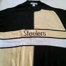Izod Club Vintage Pittsburgh Steelers 100% Egyptian Cotton Sweater Large