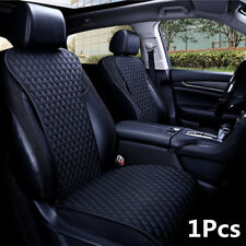 1Pcs Universal Black PU Leather Car Front Seats Cover Seat Cushions Waterproof