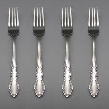 SET OF FOUR - Oneida Stainless DOVER GLOSSY Dinner Forks * ONEIDA USA