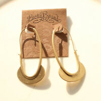 New Lucky Brand Geometric Hoop Earrings Gift Vintage Women Party Holiday Jewelry