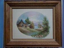 Heavy Wood Gallery Frame Scenic Painting 16x20