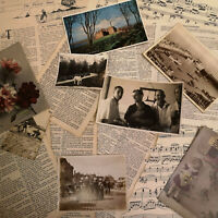 25pc Vintage Ephemera Pack, Papers, Scrapbook, Decoupage, Craft Kit, Die Cutting