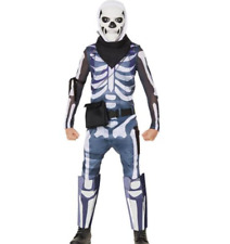 Fortnite Skull Trooper Youth Halloween Costume Jumpsuit and Mask Size XL 14-16