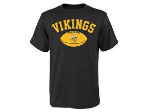 MINNESOTA VIKINGS NFL TEAM APPAREL YOUTH OUTERSTUFF ARCH SHORT SLEEVE SHIRT M