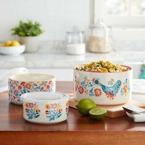 The Pioneer Woman Mazie 6-Piece Round Ceramic Nesting Bowl Set