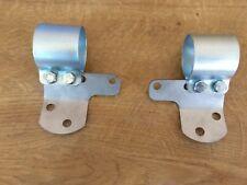 TRIUMPH Unit Coil Mounting Brackets L/H 82-6943 R/H 82-6944 T100 T120 & Clamps