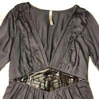 Halter Gray Dress Popsy By F&X Size Large