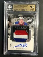 2017-18 Exquisite Filip Chytil Rookie Patch Auto /72 BGS 9.5 10 Auto