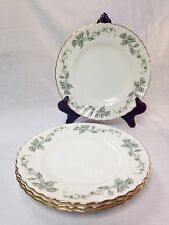 "4 Beautiful VTG ""Greenwich"" Dessert Salad Plates Minton Bone China ENGLAND S705"