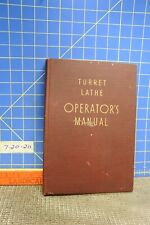 Turret Lathe Operaters Manual
