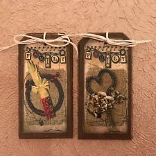 5 Handcrafted FAMILY HangTags/BowlFillers/THANKSGIVING GiftTags SetJ