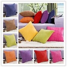Home Decor Solid Color Square Pillow Case Fashion Cushions Cover Core Free