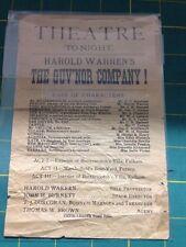 Harold Warren's : The Guv'nor  Company!