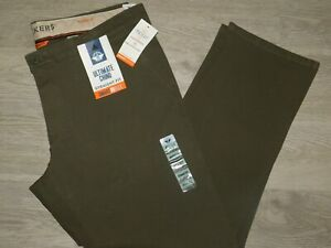 Dockers Ultimate Chino Pants Straight Fit Smart 360 4 Way Stretch Army Olive