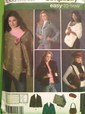 Simplicity Sewing Pattern 4355 Misses Ladies Jacket Stole Scarf Hat Bag M-XL UC
