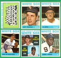 1964 TOPPS CHICAGO WHITE SOX TEAM SET  VG/EX-EX  WILHELM   DeBUSSCHERE   MINOSO