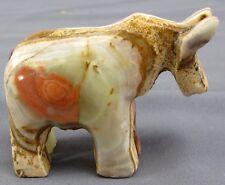 "Pakistan Carved Gemstone HORSE Healing Stone 2.5x2"" Red Brown Beige White Green"