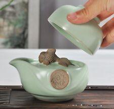 Ru Kiln  Kung Fu Tea Set Ceramic Travel A Teapot And Teacup