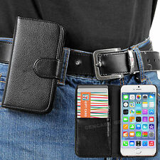 """Black Classic PU Leather Wallet Case with Belt Clip for Apple iPhone 6 PLUS 5.5"""""""