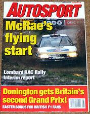 Autosport 26/11/92* RAC RALLY - MACAU GP - BRAWN on BENETTON - SCHUMACHER POSTER