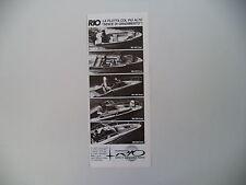 advertising Pubblicità 1984 SCAFI RIO 400 GOAL/450 CROSS/500 ONDA/580 CABIN/680
