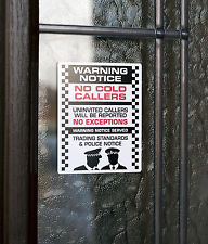 SKU001 - No Cold Caller - Front Door Letter Box Sign / Sticker - 60mm x 75mm
