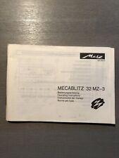 Metz Mecablitz 32 MZ-3 Bedienungsanleitung (Operating Instructions) D/GB/E/I