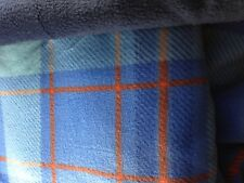 GREYHOUND FLEECE PAJAMAS - BLUE PLAID/ORANGE - CUSTOM SIZE