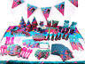 Trolls Poppy Theme Decor Tableware Set Favor Kids Birthday Party Supplies Gift