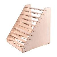 65 Holes Paint Bottle Rack Modular Organizer Wooden Storage Stand Holder