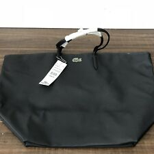 Lacoste Anthracite Large Tote Bag Purse